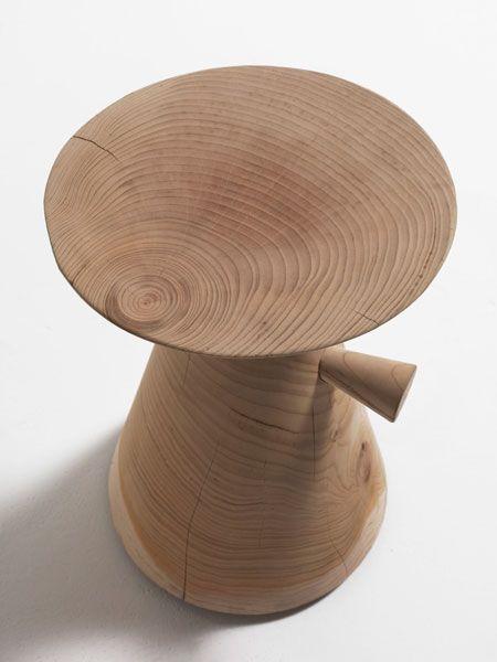 PINOCCHIO solid cedar wood stool | david dolcini STUDIO | Riva1920 #riva1920 #daviddolcini #solidwood #stool