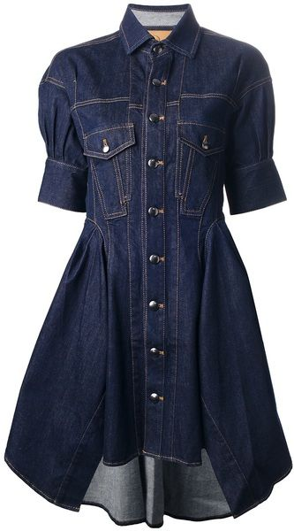 MCQ Alexander Mcqueen Denim Shirt Dress - Lyst