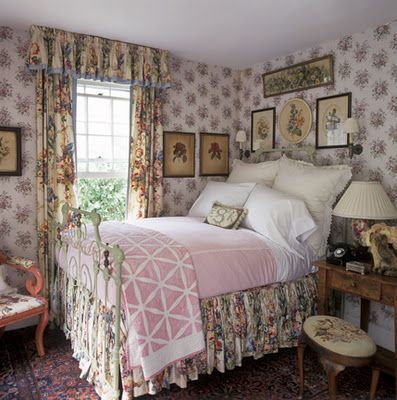 Pretty English Cottage Style Bedroom By Betsy Srt
