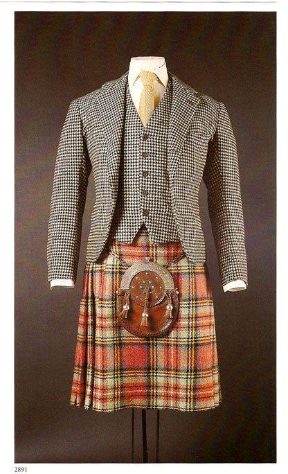 Duke of Windsor's suit, waistcoat, kilt and sporran.