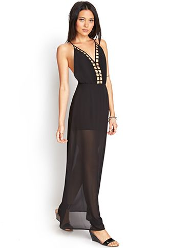 Caged Maxi Dress | FOREVER21 - 2000073215