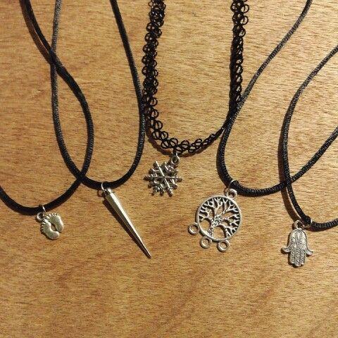 Tattoo choker necklace × baby choker necklace