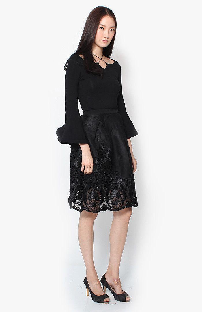 Jada Lace Skirt - Black