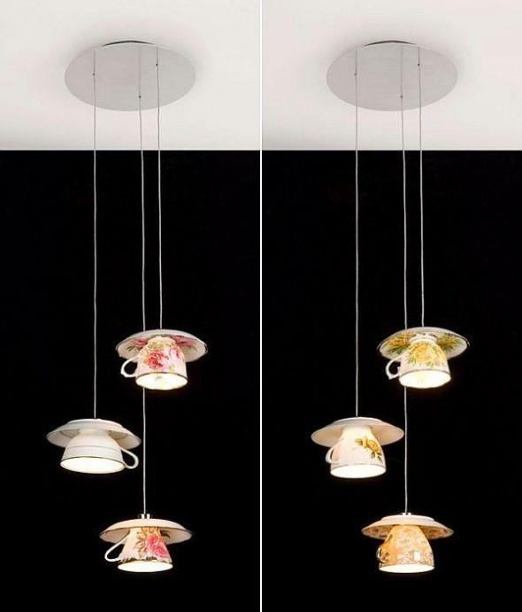 tea cups lamps