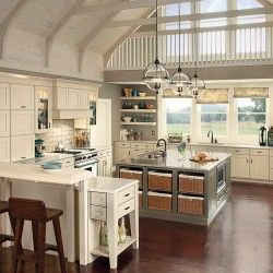 kitchen islands half wood and half shabby chic - Google Search