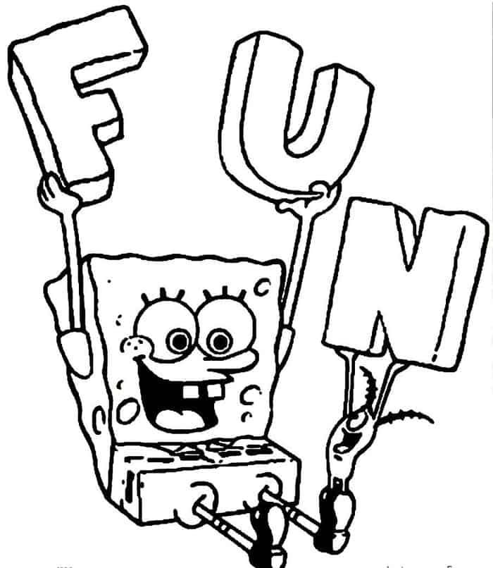 Kids Under 7: SpongeBob SquarePants Coloring Pages | 806x700