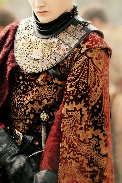 Joffrey Baratheon, costume appreciation. The detail is just beautiful.