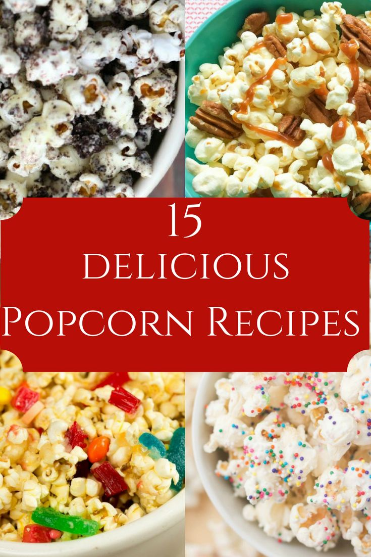 These delicious popcorn recipes are perfect for movie night. Check it out on the blog!