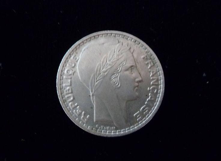 "Vintage Coin 1945 France 10 Francs Silver colored coin ""Francaise Republique"" Front / Back of Coin 10 Francs 1945 Liberte Egalite Fraternite by RosesAndLadybugs on Etsy"