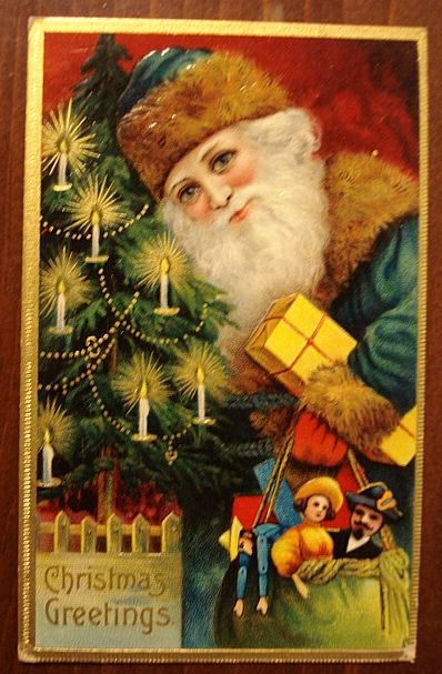 Victorian Santa Claus | antique santa postcards