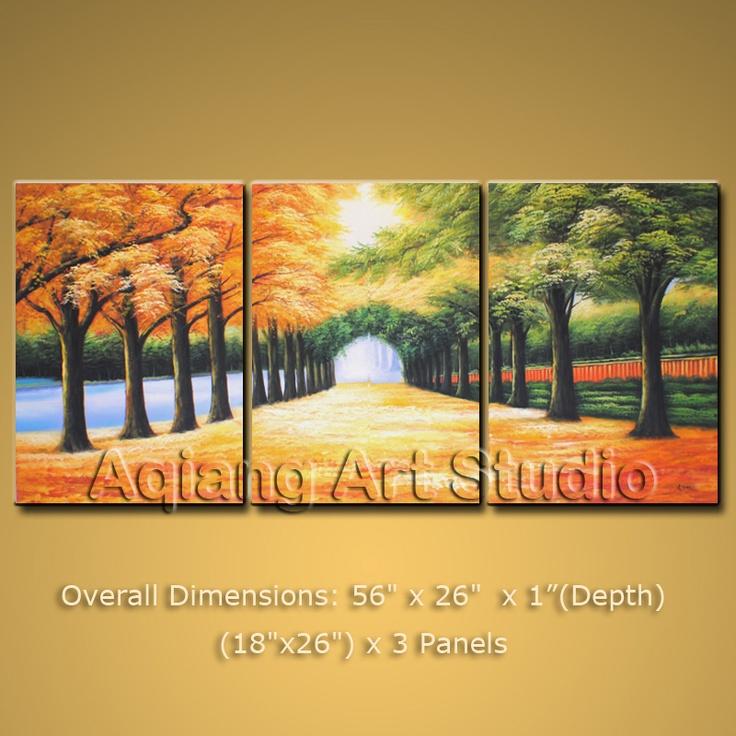 extra large modern landscape oil painting framed wall art. Black Bedroom Furniture Sets. Home Design Ideas