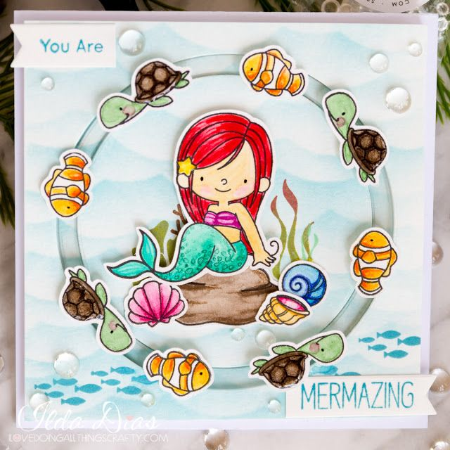 (I) (L)ove (D)oing (A)ll Things Crafty!: Mermazing Circle Spinner Card