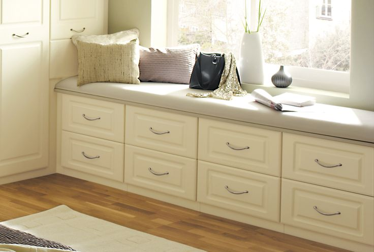 Built in wardrobes and fitted drawers help improve storage space and enhance your bedroom. www.sharps.co.uk