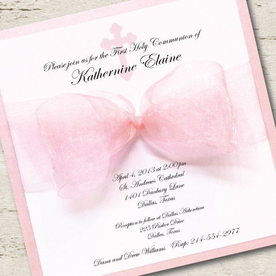 First Communion Invitation Girl by LibbyKateSmiles on Etsy, $1.95