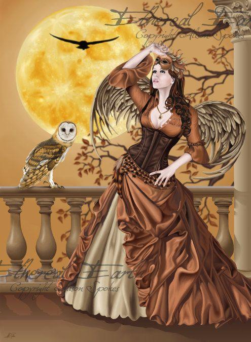 Owl Fairy Masquerade Hunter's Moon Autumn Fall by EtherealEarth