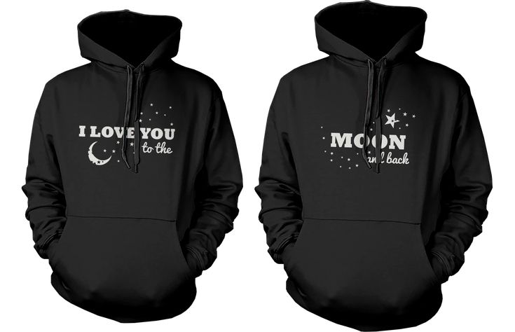 I Love You to the Moon and Back Matching Couple Hoodies (Set)