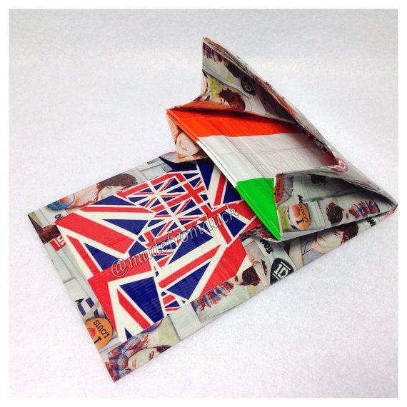 One direction mini accordion duct tape wallet duct tape for Mini duct tape crafts