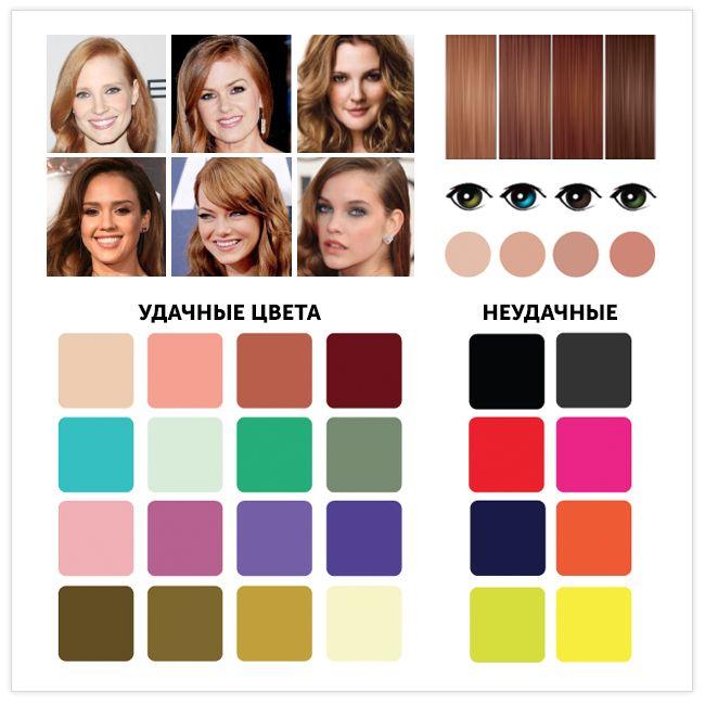 """2. Мягкая «осень» Промежуточный цветотип между «летом» и «осенью». Приглушенный оттенок волос, но кожа так же имеет красновато-рыжий подтон. Цветотип """"Осень"""" Ваши глаза: яркие, «горящие». Цвет в основном темный: янтарно-коричневые, тростниково-зеленые, каре-зеленые, темно-карие, золотисто-карие. Реже встречаются голубые, серые с карими прожилками, керосиновые, зелено-голубые, светло-янтарные."""