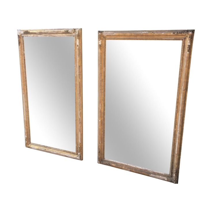 Pair Of Vintage French Alcove Mirrors