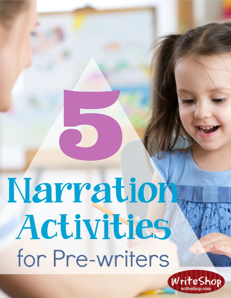 When age, immaturity, or lack of pencil skills prevents little ones from writing independently, try these fun narration activities for pre-writers.