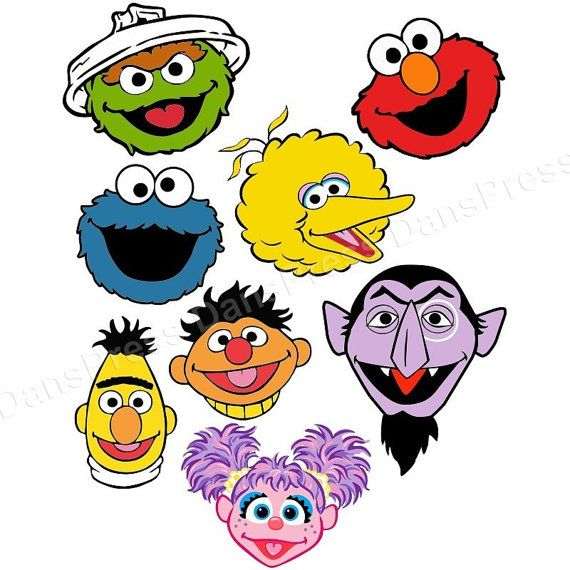 Personalized Sesame Street Shirt Your Choice Of Character Face Inspiration Characters Cake Birthday