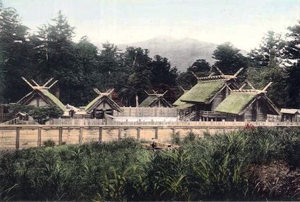 Ise Shrine (1910 postcard), Ise, Mie