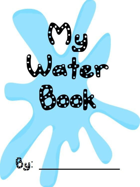 Free Water Unit Book with fun writing activities