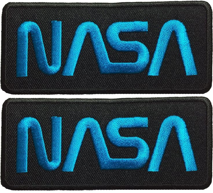 Set 2 of Nasa Space Shuttle Vector Discovery Agency Houston USA Embroidered Appliques Hat Cap Polo Backpack Clothing Jacket Shirt DIY Sewing Iron On Costume Badge Logo Patch - Black Blue *** Click image for more details.