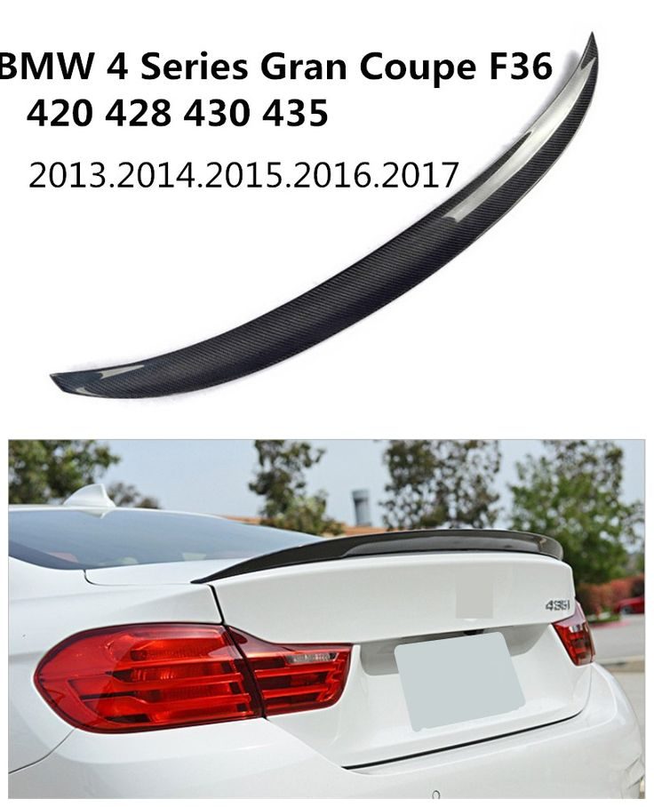 Carbon Fiber Spoiler For BMW 4 Series Gran Coupe F36 420 428 430 435 2013.2014.2015.2016.2017 High Quality Auto Rear Spoilers #Affiliate