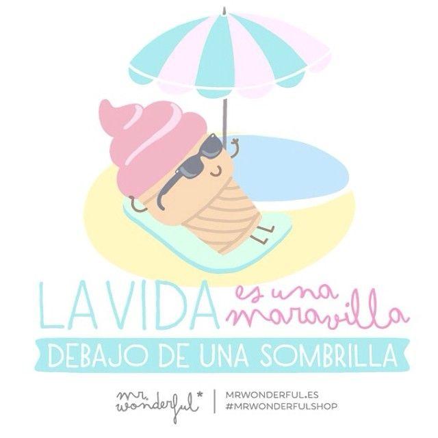La vida es una maravilla debajo de una sombrilla | by Mr. Wonderful*