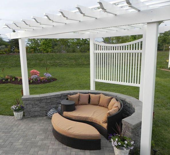 adding a pergola to a curved patio, outdoor living, patio
