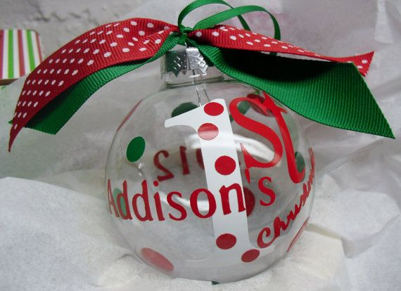 Hey, I found this really awesome Etsy listing at https://www.etsy.com/listing/62832712/personalized-babys-first-christmas