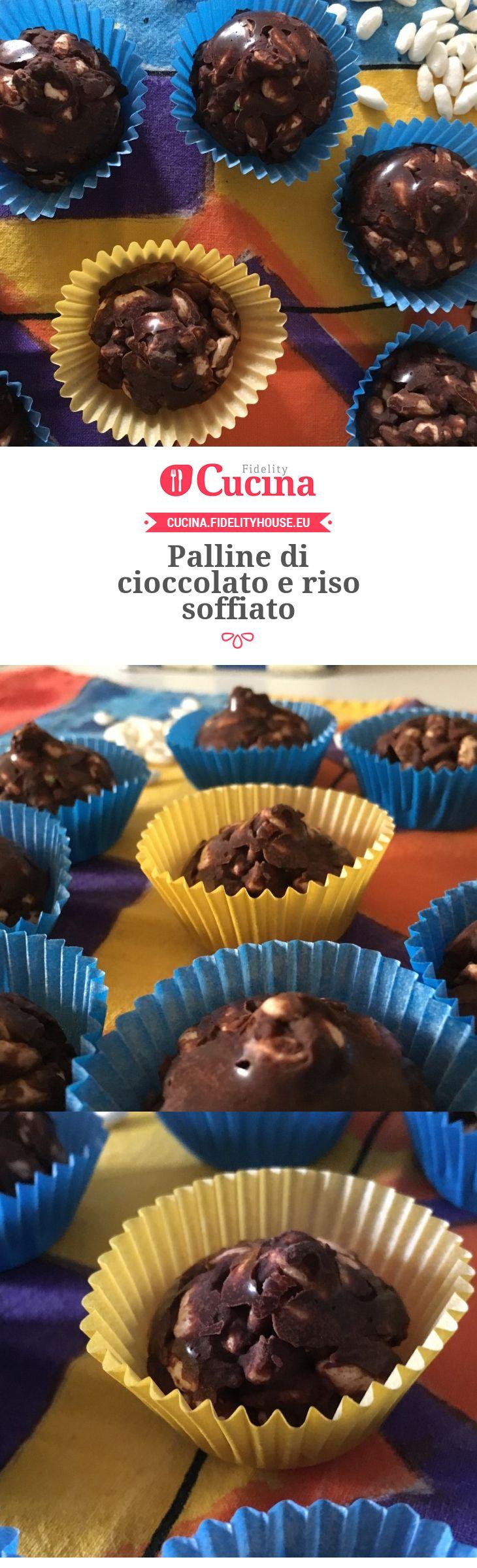 Palline di cioccolato e riso soffiato