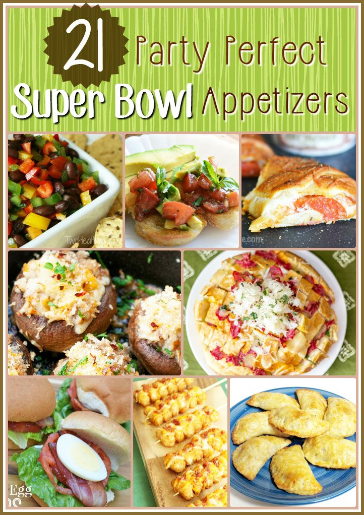An awesome list of 21 Super Bowl Appetizers.This list has tons of options for the super bowl. If you need ideas for Super Bowl Appetizers this list has them.