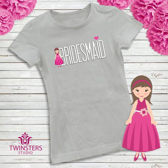 Bridesmaid printable t-shirt design for Bachelorette by Twinsters