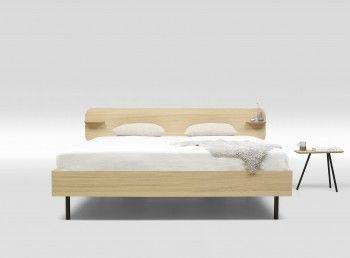 Bed Frame type 1 Trecompany tweepersoonsbed eikenfineer met hoofdbord2