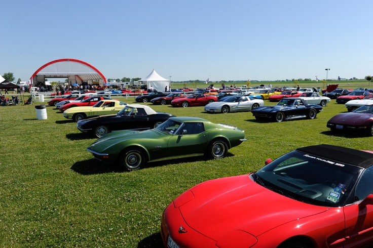 Corvette Parking Only at the Hot Rod Power Tour luncheon held at Mid America Motorworks