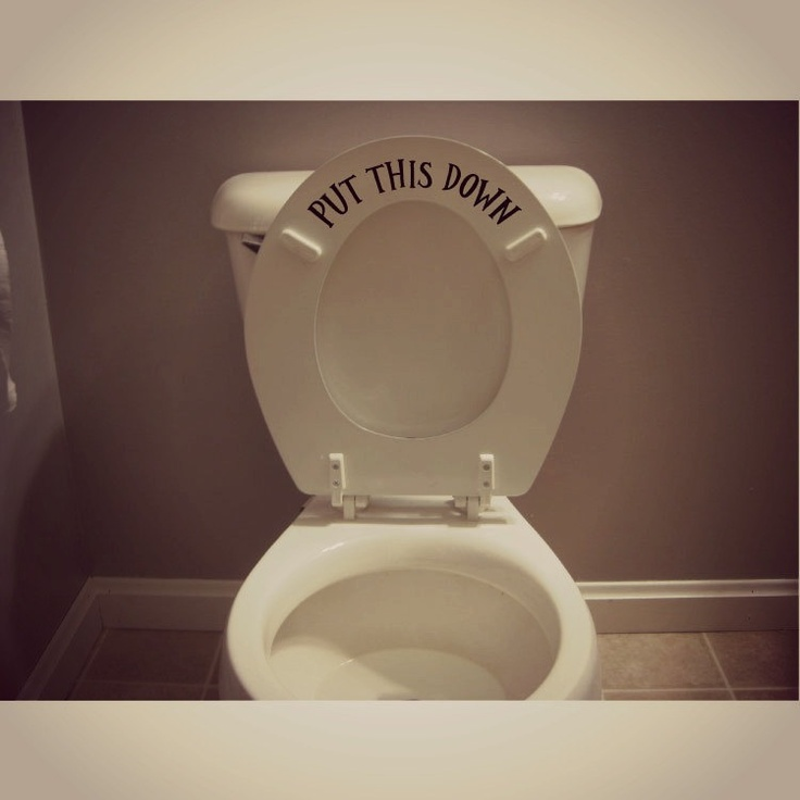 toilet seat with scale. funny toilet seat decal sticker put the down for men with scale