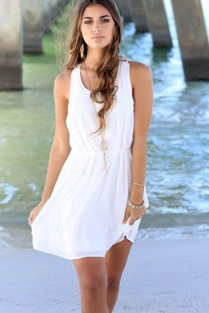 White Lace Back Sleeveless Casual Chiffon Dress @ Casual Dresses,Women Casual Dresses,Cheap Casual Dresses,Cute Casual Dresses,Casual Dresses for Juniors,Womens Casual Dresses,Casual Summer Dresses,Casual Maxi Dresses,Long Casual Dresses,Short Casual Dresses,White Casual Dresses,Sexy Casual Dresses