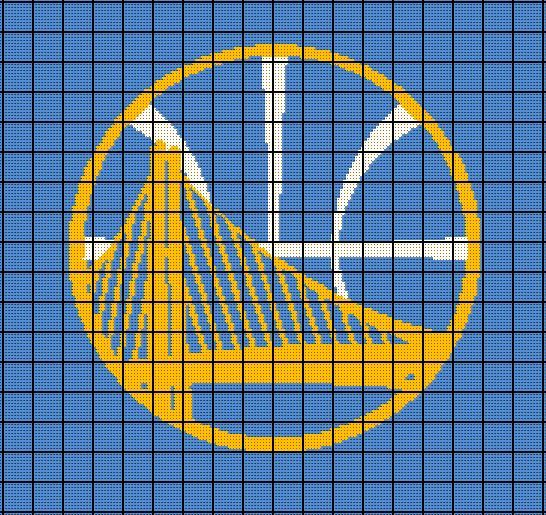 Warriors NBA Crochet Afghan by AngelicCrochetDesign   Angie's Patterns ...
