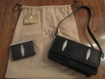 VR by King Power Genuine Stingray Baguette Purse Matching French Purse Wallet | eBay