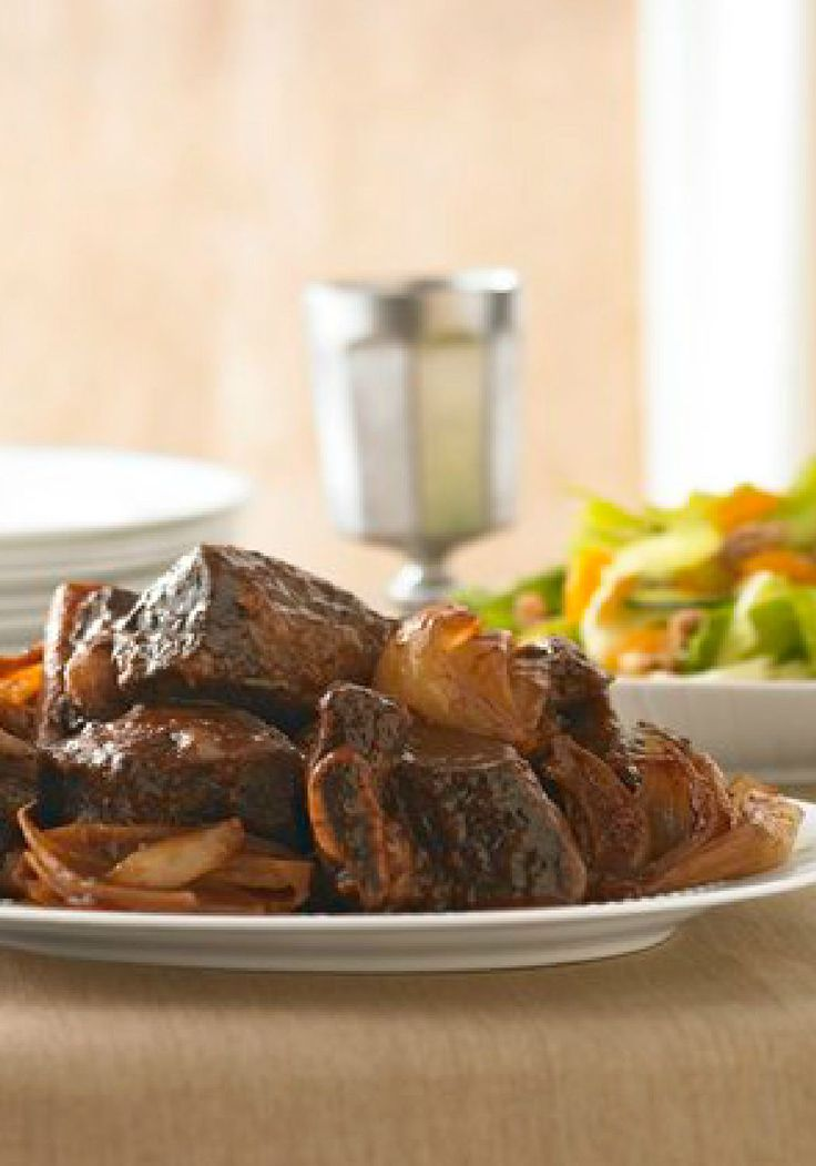 Slow-Cooked Beef Ribs for Passover – Beef short ribs get falling-off-the-bone tender in this easy slow-cooker recipe. Featuring a hint of unique coffee flavor, this holiday creation is truly one-of-a-kind.