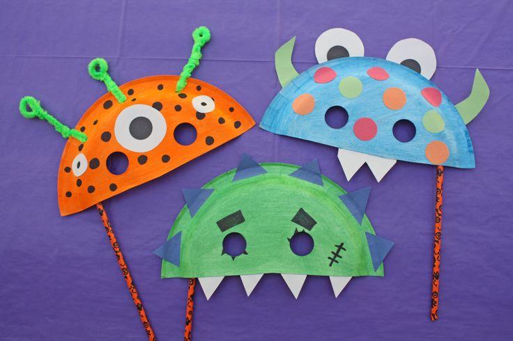 Monster Paper Plate Halloween Masks - Oriental Trading