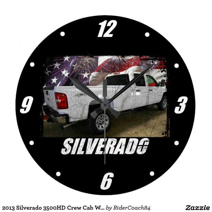 2013 Silverado 3500HD Crew Cab W/T Long Bed 4x4 Large Clock