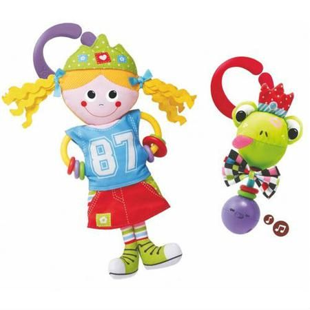"""Игровой набор """"Принцесса и лягушка"""", Yookidoo  — 1585р. -------- Игровой набор """"Принцесса и лягушка"""" позабавит  малыша своими занимательным звуковыми  эффектами, ярким внешним видом и приятными  шуршащими элементами. Петелька для подвешивания."""