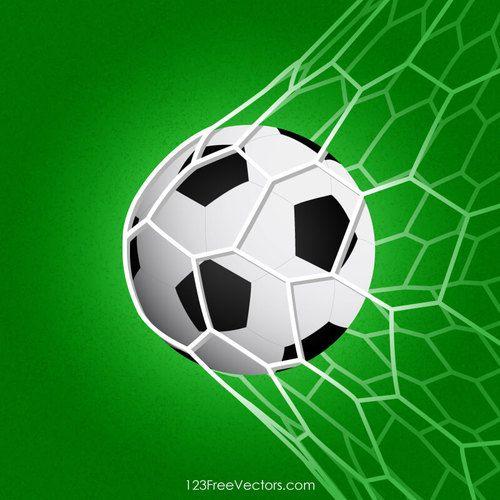 Balon de futbol en la red