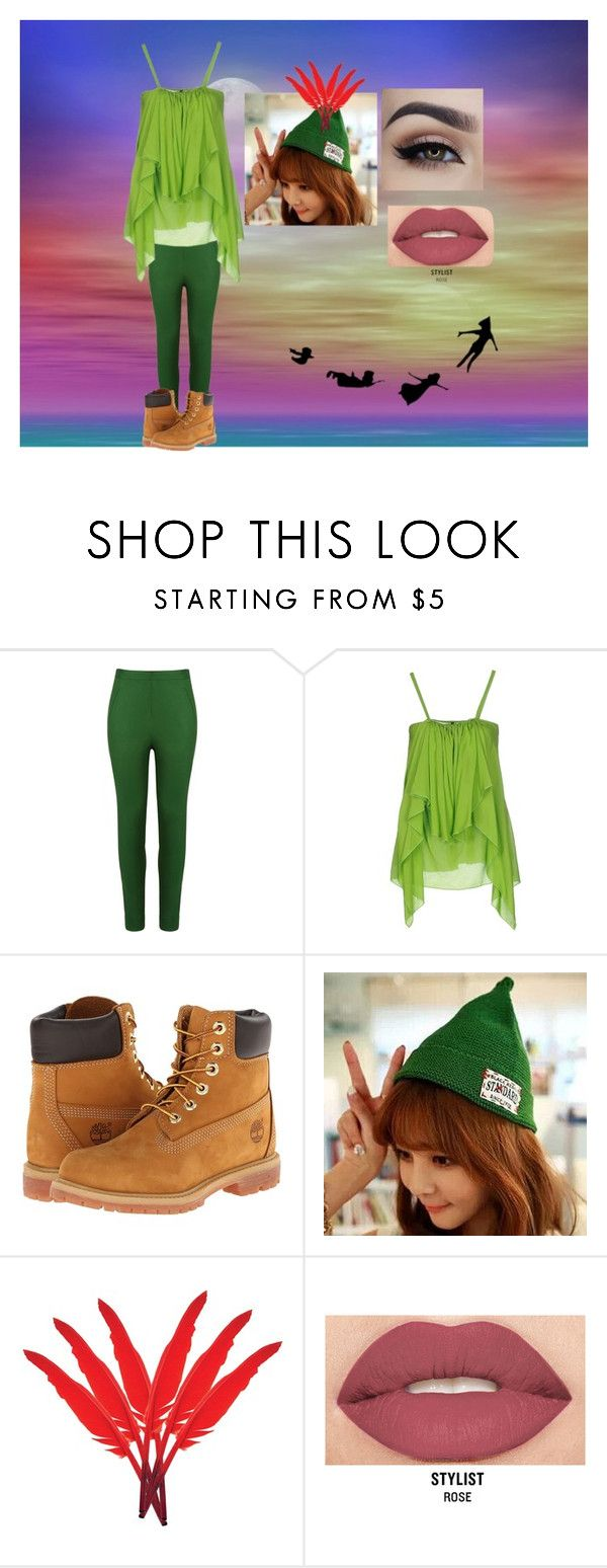 """""""Peter Pan"""" by jordan1738 on Polyvore featuring Andrea Marques, Plein Sud, Timberland, Hats 'n' Tales and Smashbox"""