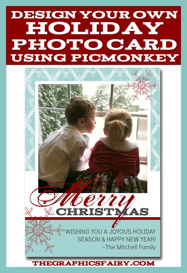 Create a Holiday Photo Card in PicMonkey - The Graphics Fairy