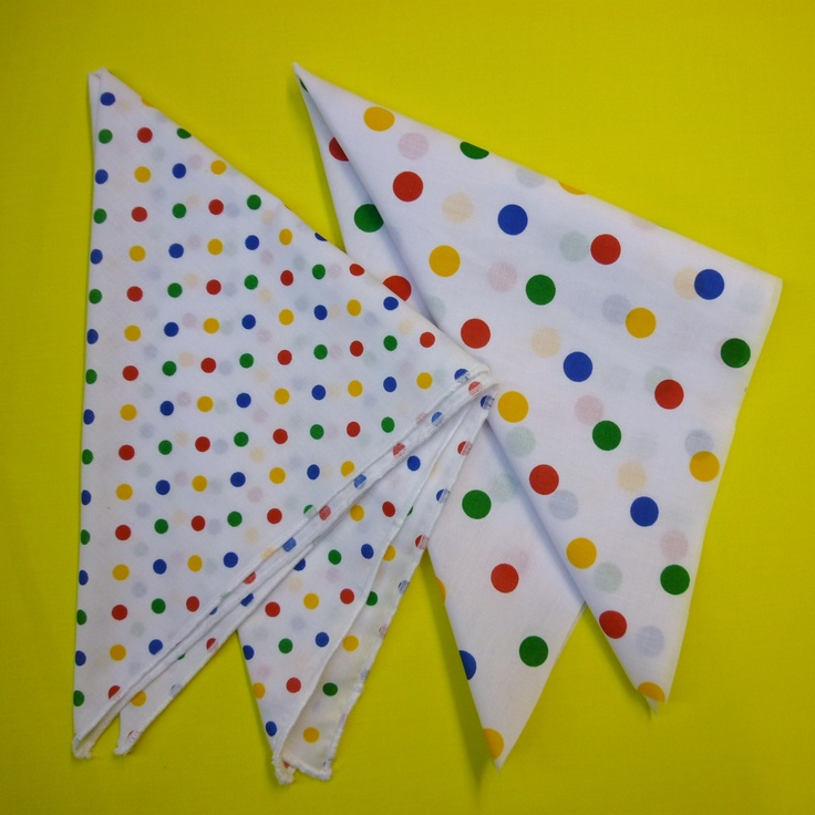Bandanas! We make Children in Need items to sell every year, to help raise money :)