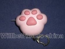 Kitty Cat Paw Sound LED Torch Keychain Bag Dangle Charm